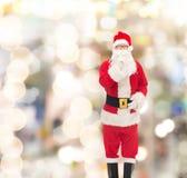 Человек в костюме Санта Клауса Стоковые Фотографии RF