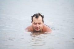 Человек в озере Стоковая Фотография RF
