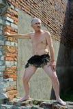 Человек в поясница-ткани Стоковые Фото