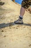 Человек в пустыне Bardenas стоковые фотографии rf