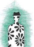 Человек в силуэте шляпы Стоковое Фото