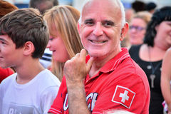 Человек в толпе Стоковые Фотографии RF