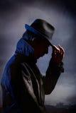 Человек в черноте Стоковые Изображения RF
