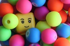 Человек в шариках Стоковое Фото