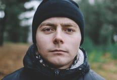 Человек в шлеме Стоковые Фото