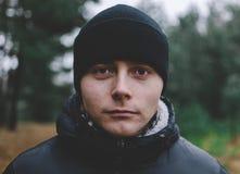 Человек в шлеме Стоковая Фотография