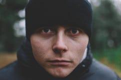 Человек в шлеме Стоковая Фотография RF