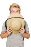 Человек в шляпе сафари Стоковое фото RF