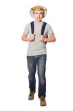 Человек в шляпе сафари Стоковые Изображения RF