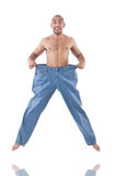 Человек в dieting концепции Стоковая Фотография