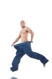 Человек в dieting принципиальной схеме Стоковая Фотография