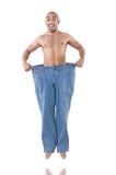 Человек в dieting принципиальной схеме Стоковые Изображения