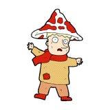 человек гриба шуточного шаржа волшебный Стоковые Изображения RF