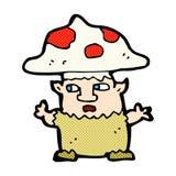 человек гриба шуточного шаржа маленький Стоковая Фотография
