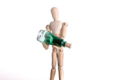 Человек держа бутылку Стоковое фото RF