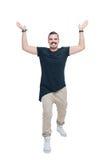 Человек держа руки вверх Стоковая Фотография RF