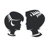 Человек & женщина Иллюстрация штока