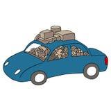 Человек живя в автомобиле Стоковая Фотография