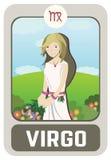 Человек зодиака: Virgo Стоковые Изображения RF