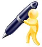 Человек золота ручки Стоковое Фото