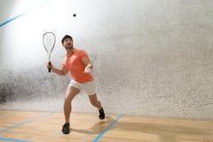 Человек игрока сквоша Стоковая Фотография RF