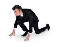человек изолированный делом стоковая фотография rf