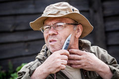 Человек имея бритье Стоковое Изображение RF