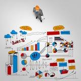 Человек инженера и его стратегия бизнеса Стоковое Изображение