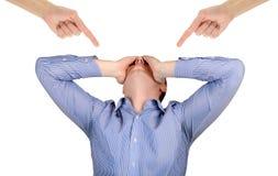 Человек испытывая стыд и стресс Стоковое Фото