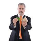 Человек и банкноты Стоковое Изображение
