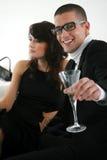 Человек и женщина в баре a Стоковое фото RF