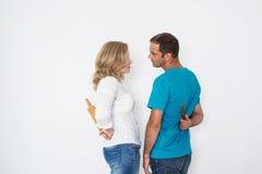 Человек и женщина в конфликте Стоковые Изображения RF