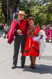 Человек и женщина в чилийской одежде Стоковые Фотографии RF