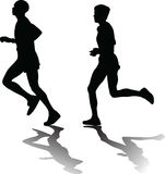 Человек и женщина как бегун Иллюстрация вектора