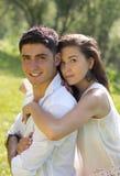 Обнимать человека и женщины Стоковая Фотография RF