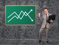 Человек и рост план-графика Стоковые Изображения RF