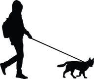 Человек и собака Стоковое Изображение