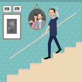 Человек идя на фото чувства лестниц унылое сиротливое смотря пар вспоминает их память бесплатная иллюстрация