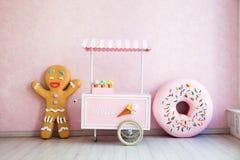 Человек и donuts пряника Стоковое фото RF