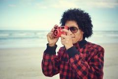 Человек камеры битника стоковое изображение rf