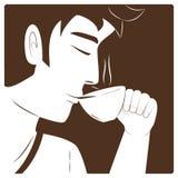 человек кофе выпивая Стоковое Изображение RF