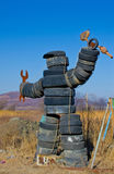 Человек колес Стоковое Изображение