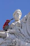 Человек крася историческое здание в Мериде Мексике Стоковое Изображение RF