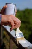 Человек крася усовик Стоковое Фото
