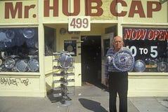Человек крышки эпицентра деятельности в Сан-Хосе, Калифорнии Стоковые Изображения