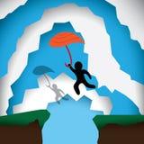 Человек может лететь Стоковое Изображение