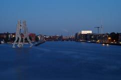 Человек молекулы в treptow Берлина Стоковая Фотография