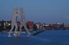 Человек молекулы в treptow Берлина Стоковые Фото