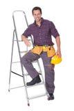 Человек молодого работника с трудным шлемом Стоковая Фотография RF
