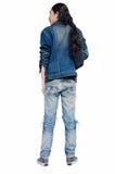 Человек моды джинсовой ткани на белой предпосылке Стоковые Фотографии RF